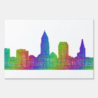 Cleveland skyline sign
