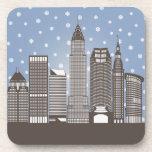 Cleveland Snowflakes Beverage Coaster