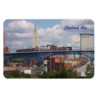 Cleveland soleada Ohio Imán Foto Rectangular