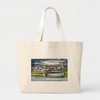 Cleveland Stadium Skyline at Dusk, Cleveland, Ohio Bag