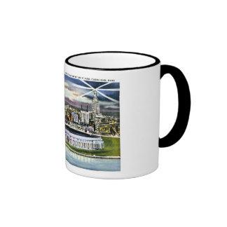 Cleveland Stadium Skyline at Dusk, Cleveland, Ohio Coffee Mug