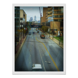 Cleveland Street from a Skywalk 2 Poster