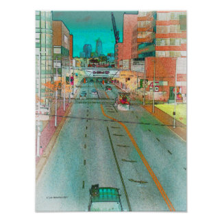 Cleveland Street from a Skywalk Poster