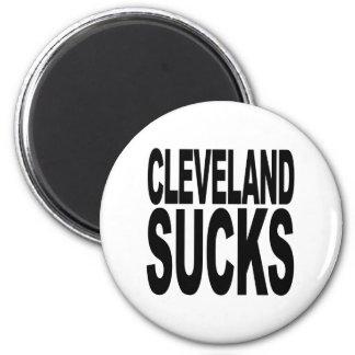 Cleveland Sucks 2 Inch Round Magnet