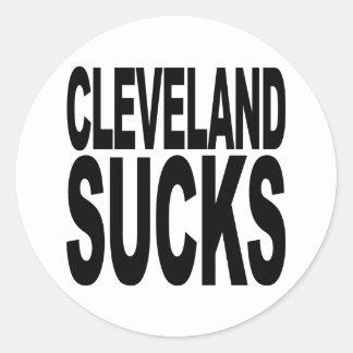 Cleveland Sucks Classic Round Sticker