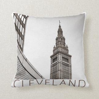 Cleveland - Terminal Tower Throw Pillow