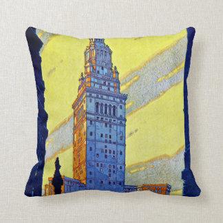 Cleveland ~ Union Terminal Throw Pillows