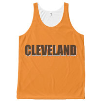 Cleveland Unisex Tank, XS All-Over-Print Tank Top