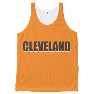 Cleveland Unisex Tank, XS All-Over Print Tank Top