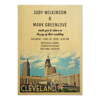 Cleveland Wedding Invitation Ohio