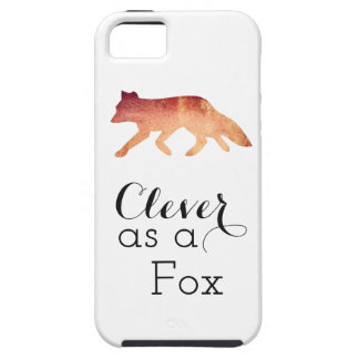 Clever as a Fox Typographical Watercolor iPhone SE/5/5s Case