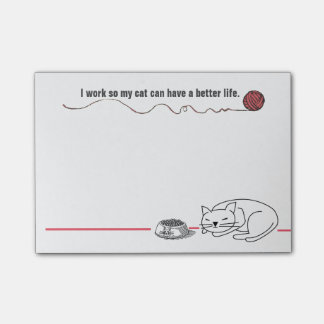 Clever Cat Humor Post-it Notes Post-it® Notes