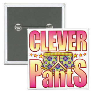 Clever Flowery Pants 2 Inch Square Button