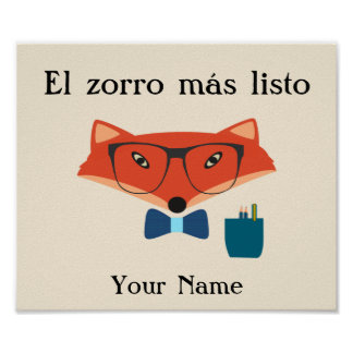 Clever Fox Spanish Language Poster