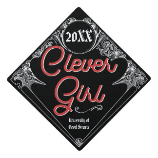 Clever Girl Vintage Style Grad Cap Topper