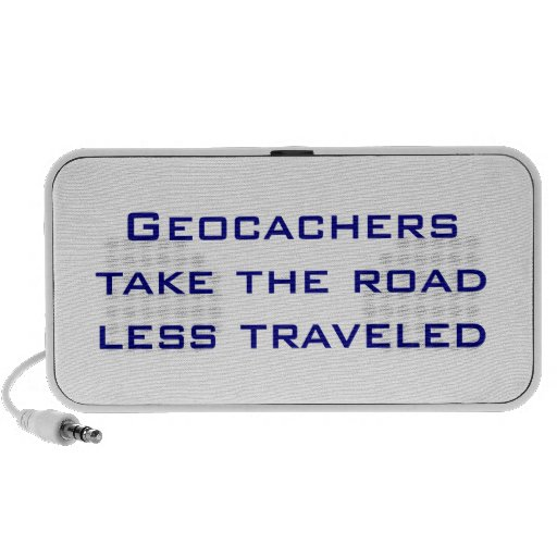 Clever GPSR Geocache Saying Mini Speakers