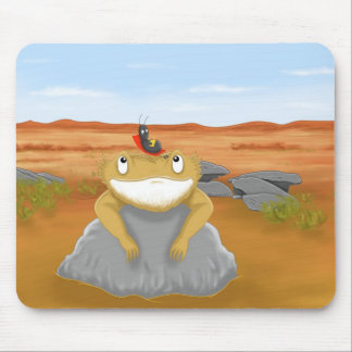 clever little cricket mouse pad