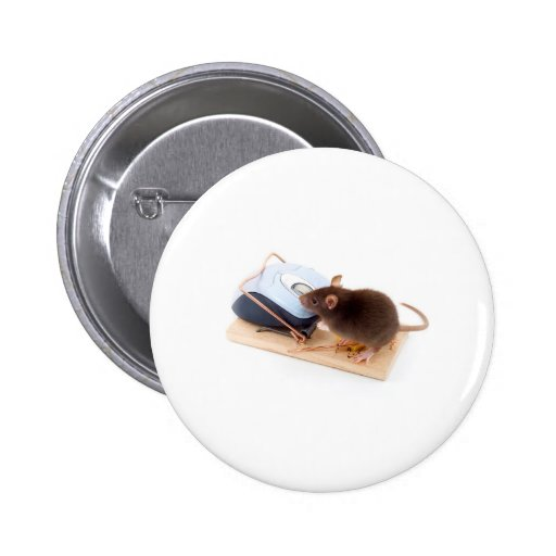 Clever Mouse 2 Inch Round Button