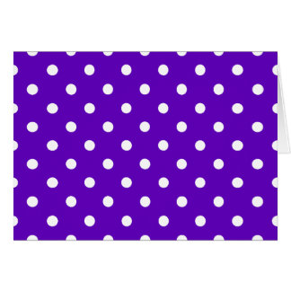 Clever Purple Polka Dot Cards, Notecards, Stickers Greeting Card