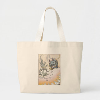 Clever Quox Rolls Eggs at Nome King Large Tote Bag