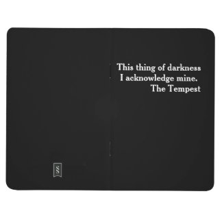 "Clever Shakespeare literary ""little black book"" Journal"