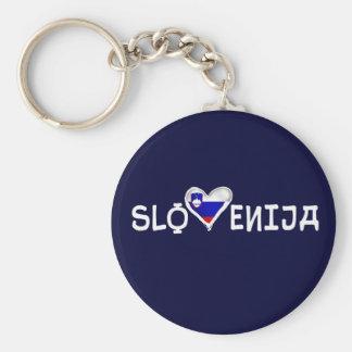 Clever Slovenija love heart of Slovenia love Keychain
