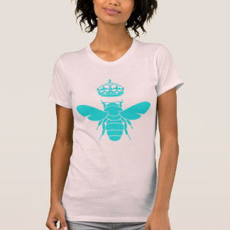Clever Teal Queen Bee Logo Tshirts