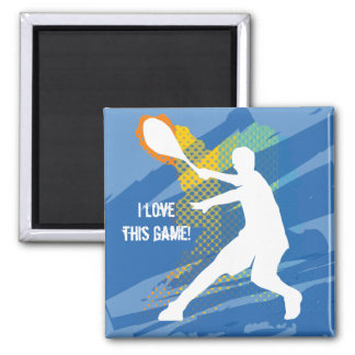 Clever Tennis Magnet: I love this game Magnet
