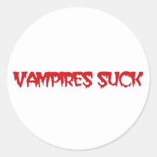 Clever Vampires Suck Halloween Stickers