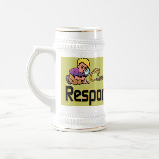 CLEVERLY DISGUISED AS RESPONSIBLE ADULT 18 OZ BEER STEIN