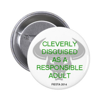 CLEVERLY DISGUISED PINBACK BUTTON