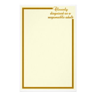 Cleverly Disguised stationary customizable Customised Stationery