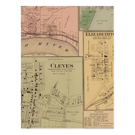 Cleves, North Bend, Ohio Postcard