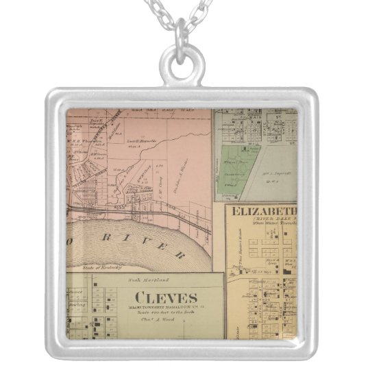 Cleves, North Bend, Ohio Silver Plated Necklace