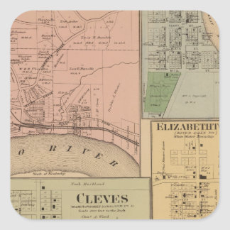 Cleves, North Bend, Ohio Square Sticker
