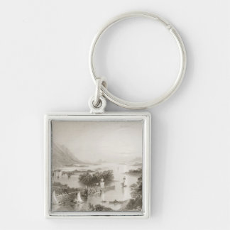 Clew Bay seen from Westport, County Mayo Keychain