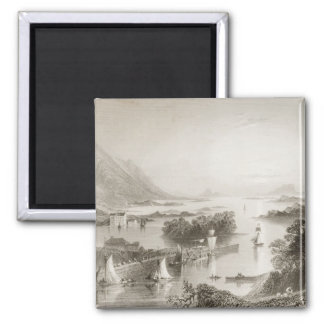 Clew Bay seen from Westport, County Mayo 2 Inch Square Magnet