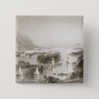 Clew Bay seen from Westport, County Mayo Pinback Button