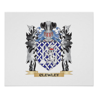 Clewley Coat of Arms - Family Crest Poster