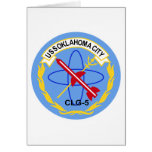 CLG-5 USS OKLAHOMA CITY Guided Missile Light Cruis Greeting Cards