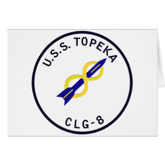 CLG-8 TOPEKA Guided Missile Light Cruiser Military Card