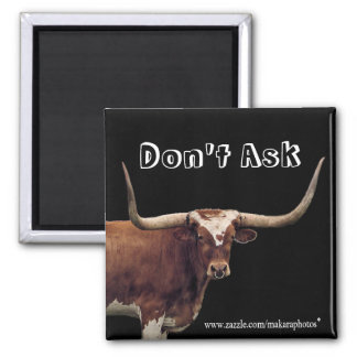 CLHLonghornMagnet-customize 2 Inch Square Magnet