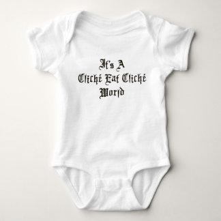 Cliche Eat Cliche World Baby Bodysuit