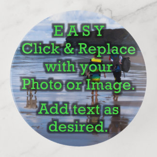 Click and Replace Photo to Make Your Own ROUND Trinket Trays