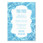 Click Customize It To Change Size - Pool Party Card at Zazzle