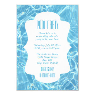 Click Customize It to change size - Pool Party Card