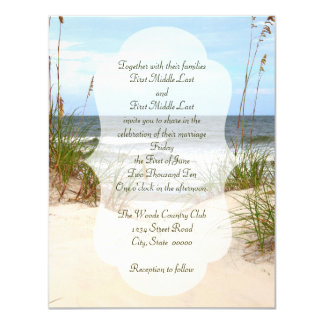 Click customize to change size - Beach Wedding Card