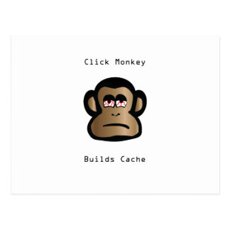 Click Monkey Builds Cache Post Card