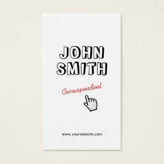 Click! Outline Text Correspondent Business Card