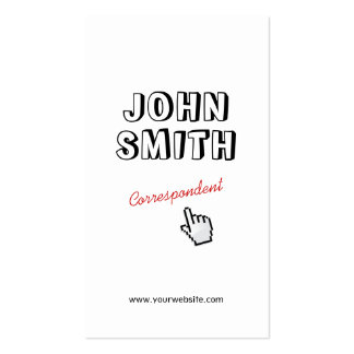 Click Outline Text Correspondent Business Card